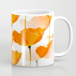 Orange Poppies On A White Background #decor #society6 #buyart Coffee Mug