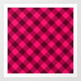 Pink Buffalo Plaid Art Print