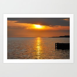 Sundown on the Bay Art Print