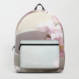 Still life for Bathroom with almond blossoms Backpack