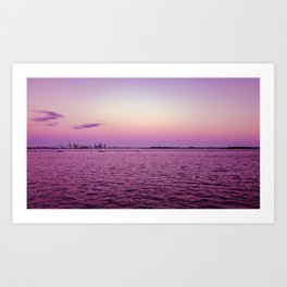 Purple haze on the biscayne Art Print