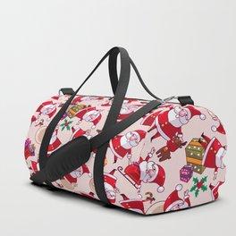 Santa Gift Pattern Duffle Bag
