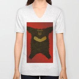 Bear skin rug Unisex V-Neck