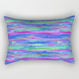 Watercolor Abstract Cool Rectangular Pillow