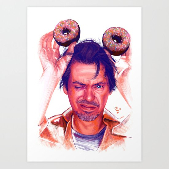 Steve Buscemi and donuts Art Print