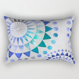Mandala Pattern blue and turquoise Rectangular Pillow