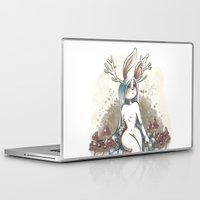 jackalope Laptop & iPad Skins featuring Jackalope by Laeti Vanille