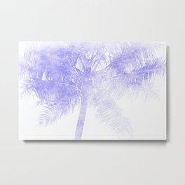 Palm Tree Blue Summer Beach Metal Print