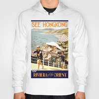 hong kong Hoodies featuring HONG KONG by Kathead Tarot/David Rivera