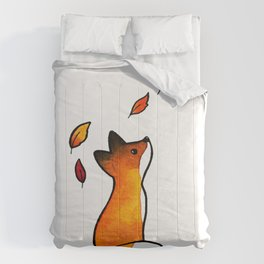 The Fox in The Leaves Comforters