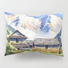 Old House By The Mountain Pillow Sham