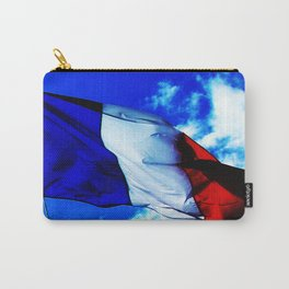 French flag blowing in the wind Carry-All Pouch