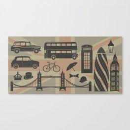vector set of London landmarks Britain symbols isolated Canvas Print