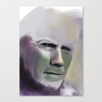clint eastwood Canvas Prints featuring Clint Eastwood by Fatma