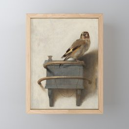 The Goldfinch Vintage Painting Framed Mini Art Print