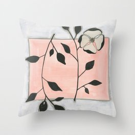 Deco Rose Throw Pillow