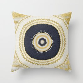 Navy Gold Throw Pillows Society6