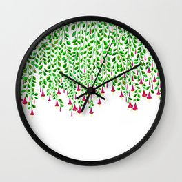 Trumpet Flowers hanging Down Wall Clock