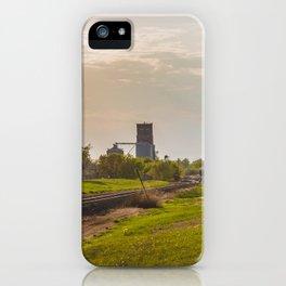 Railroad Tracks, Washburn, North Dakota 1 iPhone Case