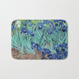 Famous art, Iris by Vincent van Gogh.   Bath Mat