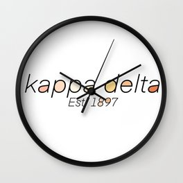 KD Colored Letters Wall Clock