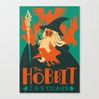 the hobbit Canvas Prints featuring The Hobbit by Greg Wright