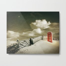 Winter in the Cotswolds, England Metal Print