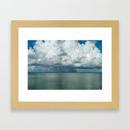 Heavy clouds Framed Art Print