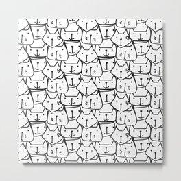 BLACK & WHITE CATS Metal Print