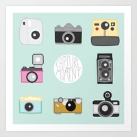 cameras Art Prints featuring cameras by Sarah Turbin