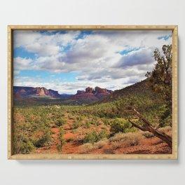 Sedona Landscape by Reay of Light Photography Serving Tray
