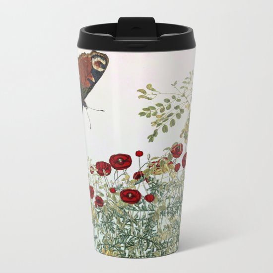 'Serenity only a deliberate hebitude' Metal Travel Mug