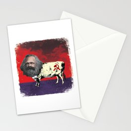 COW MARX - FATHER OF BOVINE COMMUNISM Stationery Cards