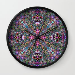 Abstract Threads of Color Wall Clock