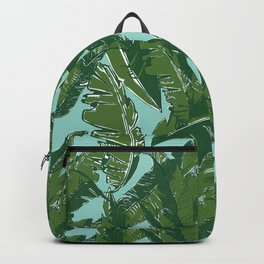 Leaves Bananique in Aqua Sea Backpack