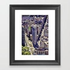 Flat Iron Top View Framed Art Print