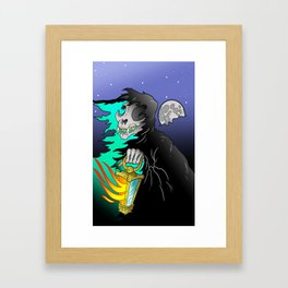 Your 9 Lives Are Up Framed Art Print