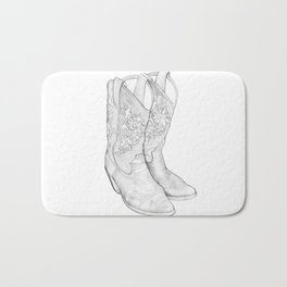 Cowboy Boots Bath Mat