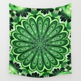 Mystery Green Puzzle Wall Tapestry