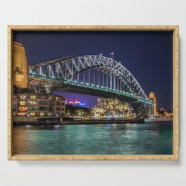 Sydney Harbor Bridge at Night Serving Tray