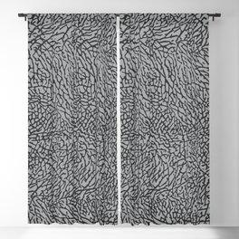 Elephant Print Texture - Grey Blackout Curtain