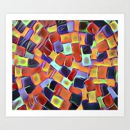 Colorful European Sidewalk Art Print