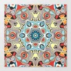 Textural Kaleidoscope Abstract Canvas Print