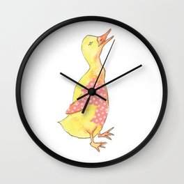 Little Yellow Duck Wall Clock