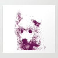 puppy Art Prints featuring Puppy by Deliratio