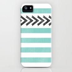 ARROW STRIPE {TEAL} Slim Case iPhone (5, 5s)