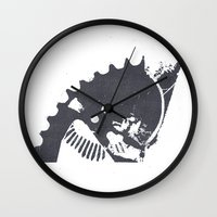 industrial Wall Clocks featuring Industrial II by Lucas del Río
