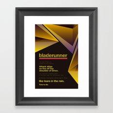 Bladerunner Minimal Movie Poster Framed Art Print