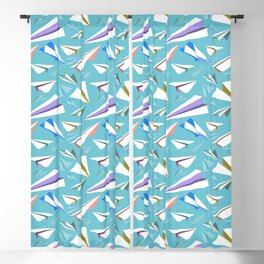 Aeroplanes - Paper Airplanes Pattern Blackout Curtain