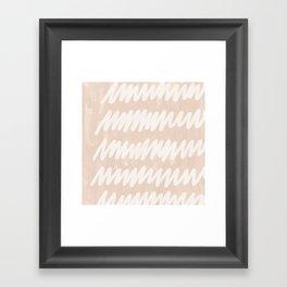 static blush Framed Art Print
